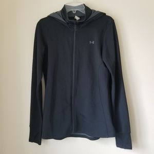 Under Armour Black Zip Up Hooded Jacket - M